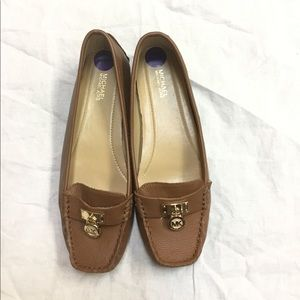 Michael Kors brown leather loafers